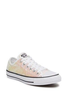 bf688daecab2d1 Pink Converse leather Lux Blush Silver Rose Gold Low Top Custom ...