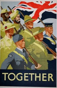 British World War II Propaganda Poster - Together - Vintage WWII Propaganda Art Print Ww2 Propaganda Posters, Political Posters, Military Art, British History, World War Ii, Vintage Posters, Posters Uk, Quote Posters, Vintage Ads