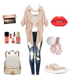 """""""Untitled #3"""" by mariatriantafyllopoulou on Polyvore featuring Converse, Michael Kors, J.Crew and Lime Crime"""
