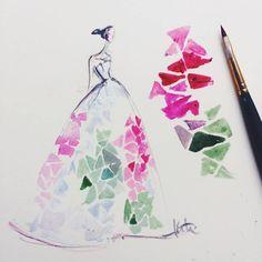 NYFW Carolina Herrera Spring 2015 Sketch- love this collection