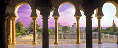 Vista desde el interior del salón noble.Palacio de Abd al-Rahman III