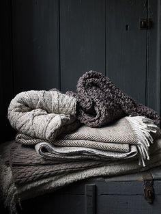 warm gray blankets