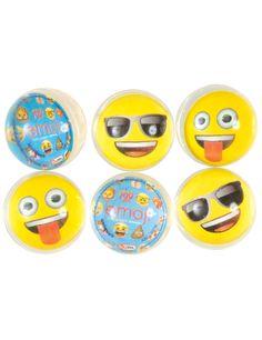 6 Pelotas saltarinas Emoji™: Este lote incluye 6 pelotas saltarinas con licencia oficialEmoji™.Son transparentes con una…
