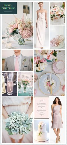 Blush + Dusty Blue Wedding Inspiration