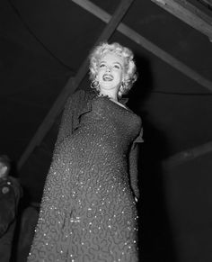 Marilyn Monroe ~ Korea, 1954 entertaining the troops for three days.