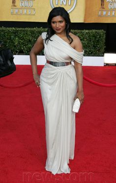 Mindy Kaling at arrivals for 17th Annual Screen Actors Guild SAG Awards - ARRIVALS Part 2, Shrine Auditorium, Los Angeles, CA January 30, 2011.