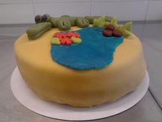 krokodillen taart 1   (taart gemaakt bij workshop)