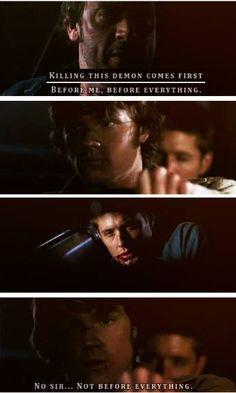 No sir, not before everything ~ Sam Winchester #Sam #Dean || John Winchester #Supernatural 1x22 Devil's trap