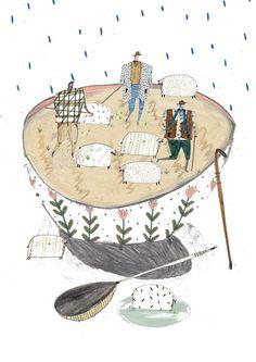 food illustration, food, food art, editorial illustration, illustration, sheep illustration, amyisla, amyisla mccombie, illustrator,