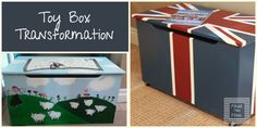 Toy Box to Union Jack Coffee table