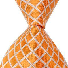 MINDENG Tartan Wool Tie Orange Check Business Men's Silk Neckties Leisure Ties  http://www.yourneckties.com/mindeng-tartan-wool-tie-orange-check-business-mens-silk-neckties-leisure-ties/