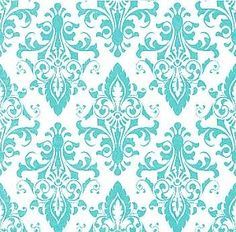 Teal floral background wallpaper for an accent wall.