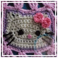 Tutorial For Making The Hello Kitty Face Click Here For Hello Kitty Blanket Pattern
