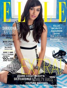 Shraddha Kapoor on the cover of Elle
