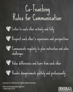 To ensure a smooth co-teaching relationship, follow these smart Co-Teaching Rules for Communication