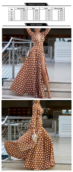 Polka Dot Maxi Dress - ApolloBox Full Skirt Dress, Full Skirts, Ruffle Skirt, Ruffles, Apollo Box, Polka Dot Maxi Dresses, Floor Length Dresses, Bohemian Style, Fit And Flare