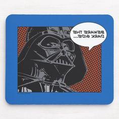 """Darth Vader Comic """"Beware The Dark Side"""" Mouse Pad Darth Maul Clone Wars, Darth Maul Lightsaber, Darth Vader Artwork, Darth Vader Comic, Darth Maul Wallpaper, Star Wars Wallpaper, Boba Fett Tattoo, Saga, Star Wars Ships"""