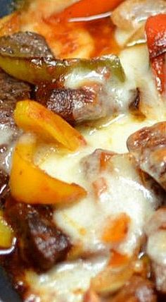 This low carb Steak and Cheese Skillet is made with beef steak, onions, bell peppers, a super simple brandy sauce and topped with melted provolone cheese. Beef Recipes, Easy Recipes, Easy Meals, Brandy Sauce, Skillet Dinners, Beef Steak, Steaks, Cheesesteak, Casserole