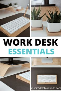 Work Desk Decor, Office Decor, Office Ideas, Easy Woodworking Projects, Diy Wood Projects, Office Organization Tips, Desk Essentials, Home Office Desks, Decorative Items