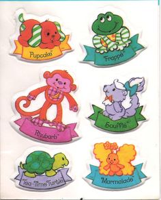 Vintage Kenner Strawberry Shortcake Puffy Pets Stickers