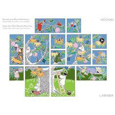 Moomin tree wall tiles