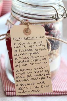 Julecookies på glass – med valnøtter, sjokolade og tranebær – TRINES MATBLOGG