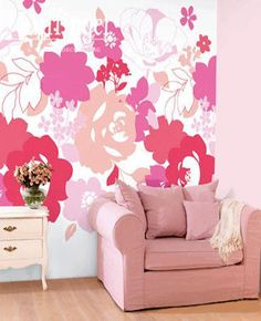pink-purple beautiful flowers images, pink living room decorating