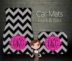 Custom Personalized & Monogrammed Car Mats @Lisa Alford will you please get these for me!!