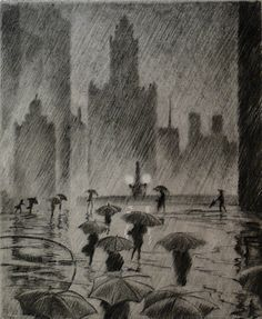 James Swann - Umbrella Weather, 1943, Chicago.  I just saw this!