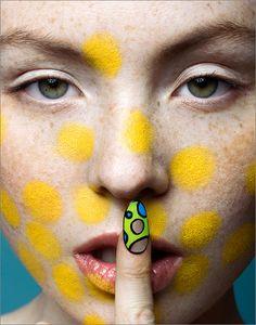 Top 11 Creative Yellow Makeup Looks - Inspiration by Color Yellow Makeup, Editorial Hair, Pat Mcgrath, Color Inspiration, Makeup Looks, Hair Makeup, Goth, Victorian, Neon