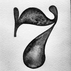 Seven calligraphy lettering watercolors numbers brown black 7 Typography Letters, Graphic Design Typography, Lettering Design, Number Typography, Art Mots, Typography Inspiration, Design Inspiration, Design Ideas, Schrift Design