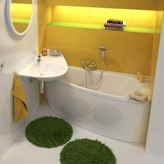 """Рубрика """"Идеи маленькой ванной комнаты"""". Угловые умывальники - хорошее решение! Экономят место и обеспечивают комфорт. Компактные умывальники выпускаются со сливными отверстиями в разных местах: по центру справа и слева. Обычно они бывают навесные и редко с установкой на пьедестале. Существуют накладные и полувстраиваемые модели. Интересны ассиметричные варианты особенно с крылом которое можно использовать как подставку для принадлежностей а само крыло пустить над скошенным бортиком ванны…"""
