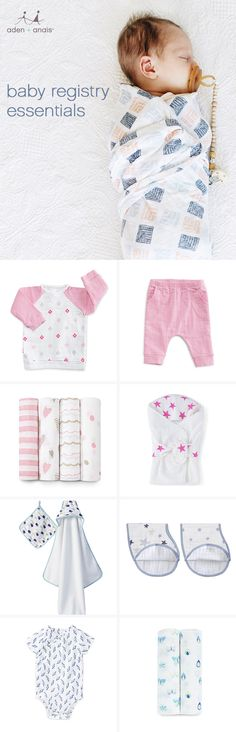 soft, breathable and adorable, from swaddles to crib sheets, these muslin must-haves are essential to any baby registry.