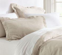 Belgian Flax Linen Duvet Cover & Sham | Pottery Barn