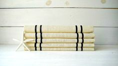 16 x 120  Ivory Burlap Table Runner with black by HomesteadBurlaps, $62.00