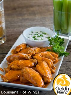 Turn up the heat with these finger licking, lip smacking, spicy Louisiana Hot Wings.
