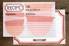 Mail a recipe card to everyone invited to the bridal shower, then give the bride-to-be a recipe box already filled with recipes from her loved ones! #shower #wedding