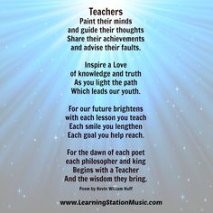 teacher pomes on Pinterest | Teacher Poems, Teacher ...