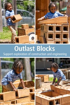 Designed to encourage constructive play and child-directed discovery in outdoor play spaces, Outlast blocks are extremely versatile and can support many outdoor learning-rich activities, from large construction to dramatic play. Tap through to see the buying options and more details. To learn how to use Outlast Blocks for teaching, get the Guide: communityplaythings.com/resources/Literature/Outlast-Activity-Guide