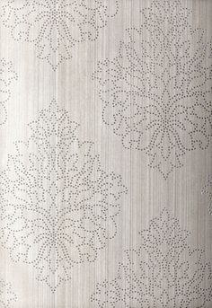 Modern Glamour Wallcovering - beaded damask by Schumacher.. I die! Would be so lovely as an accent wall  or in a closet!