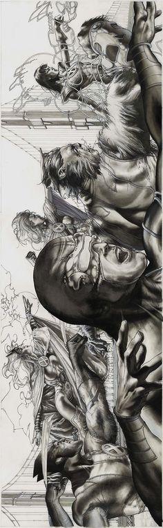 Astonishing X-Men - Wolverine, Storm, Cyclops, Emma Frost, Beast & Armor | Simone Bianchi