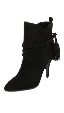 Cynthia Vincent Harp Suede Lace Up Booties | SHOPBOP