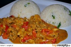 Africké kuře Czech Recipes, Ethnic Recipes, Cooking Recipes, Healthy Recipes, Eating Well, Poultry, Ham, Chicken Recipes, Curry