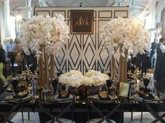 great gatsby party decorations | Great Gatsby Inspired Tablescape | Party Ideas & Holidays