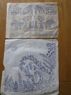 Vintage-Embroidery-Transfers-Crinoline-Lady-and-Flowers-and-leaves