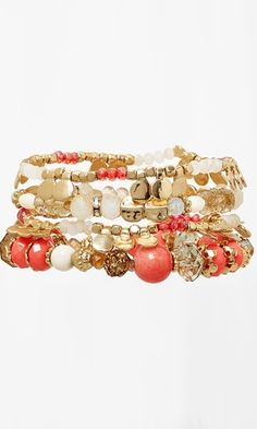 Love this stacked stretch bracelet