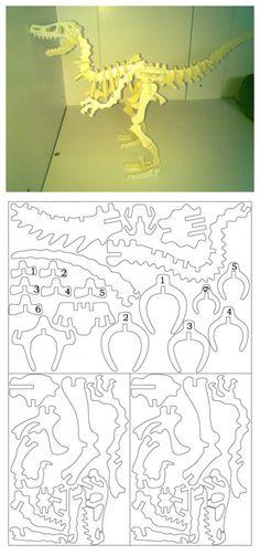3D paper sculpture - dinasor #(Excerpt)