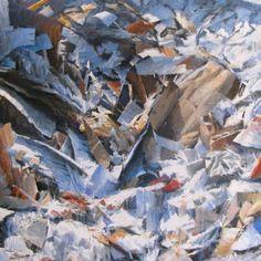 "Saatchi Online Artist Andrea Mancini; Painting, ""#1500 paper"" #art"