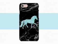 Black Marble Horse Phone Case | iPhone | Galaxy | LG | Moto G |Pixel | Atlantek Designs on Etsy | Designed by Purple Horse Designs | atlantekdesigns.etsy.com