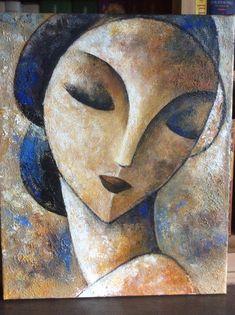 Oil on canvas 2012 - Didier Lourenço Abstract Face Art, Abstract Portrait, Portrait Art, Portraits, Art Visage, Cubist Art, Figurative Art, Painting Inspiration, Female Art